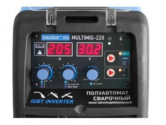 Полуавтомат SOLARIS MULTIMIG 228 (MIG/MMA/TIG) (с TIG горелкой)