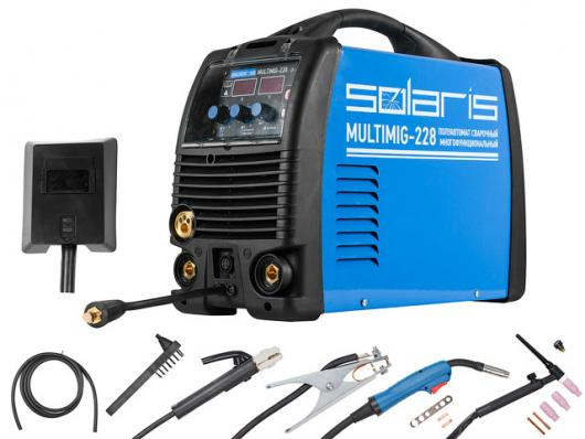 Полуавтомат SOLARIS MULTIMIG 228 (MIG/MMA/TIG) (без TIG горелки)