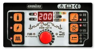 Инвертор аргонодуговой GROVERS WSME 200P ACDC