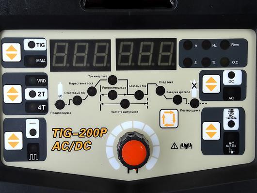 Инвертор аргонодуговой РУСЭЛКОМ TIG-200P AC/DC